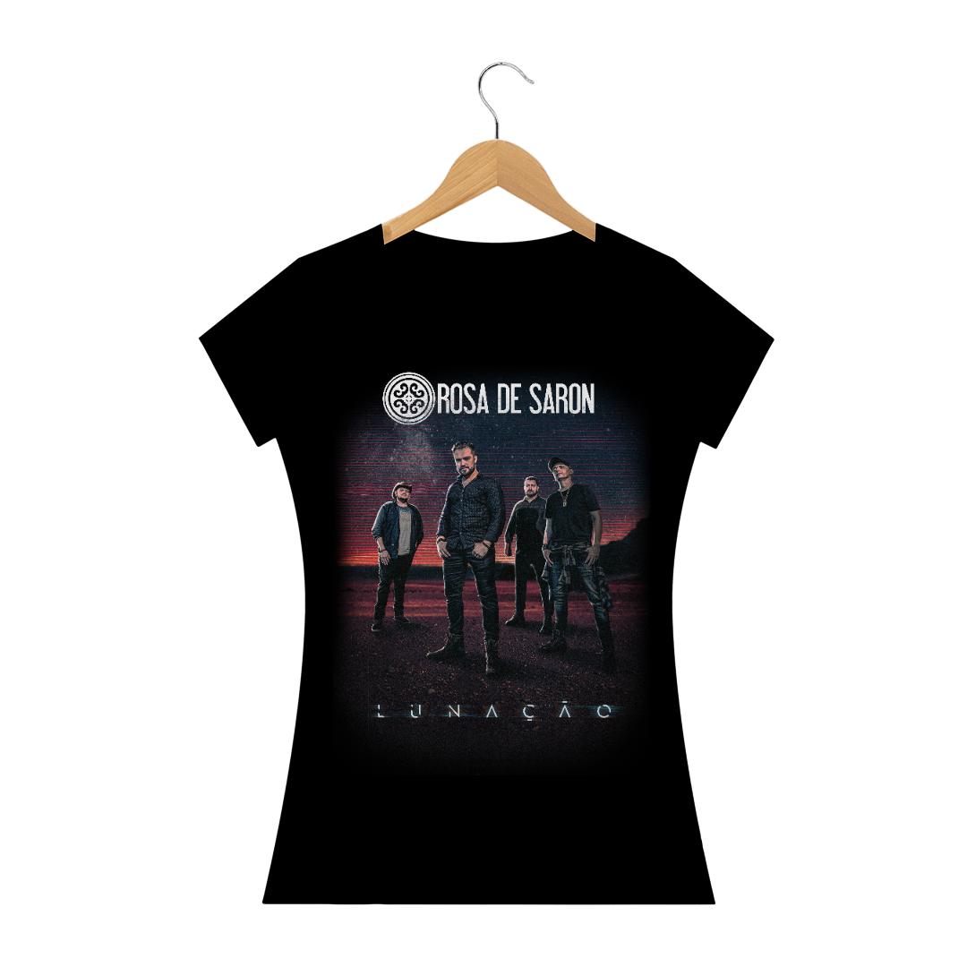 Camiseta Baby Look Rosa de Saron Lunação